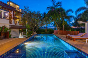 Villa surrounded by lush tropical landscaping in Patong ID.17PA3109 1