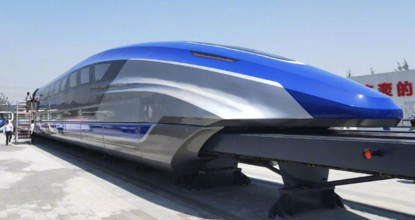 China revealed a prototype maglev train with a top speed of 600 km/h