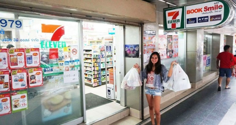 No more plastic bags at some 7 Eleven stores starting Monday